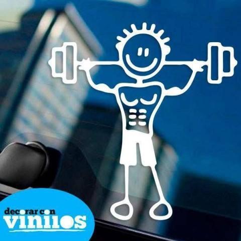 Pegatina de Familia - Padre Fitness