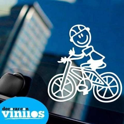 Pegatina de Familia - Padre Ciclista