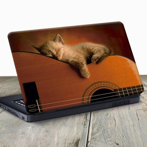 Vinilo para Portátil - Gato en la guitarra