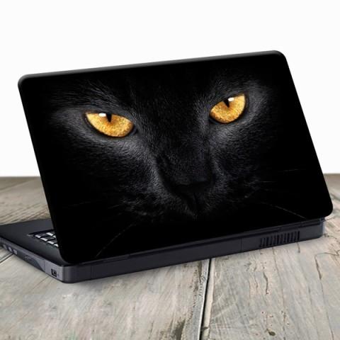 Vinilo para Portátil - Gato Negro