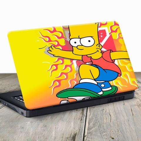 Vinilo para Portátil -  Bart Simpson