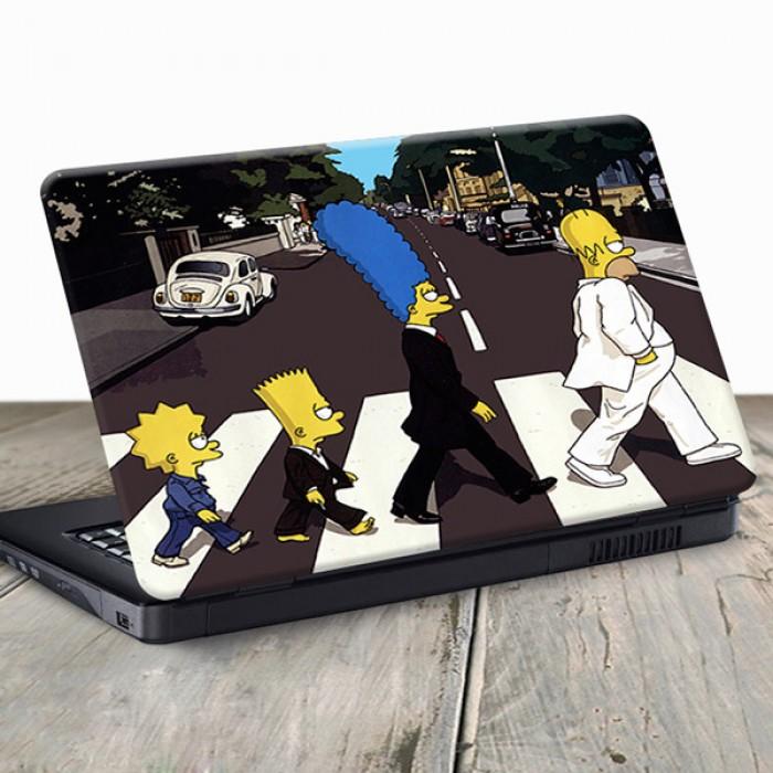 Vinilo para Portátil - Familia Simpson