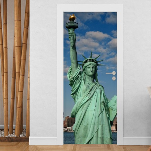 Vinilo para Puerta - Estatua de la libertad