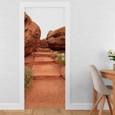 Vinilo para Puerta -  Entre rocas