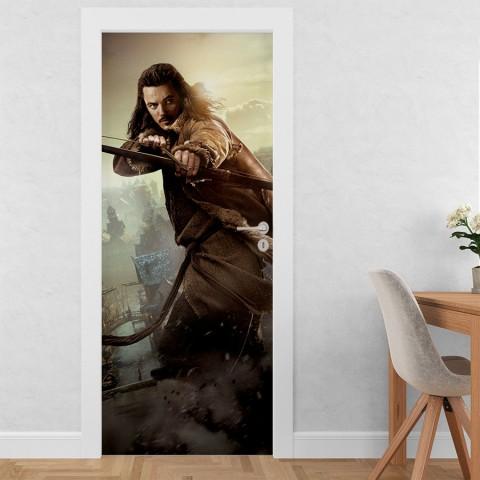 Vinilo para Puerta - El hobbit 2