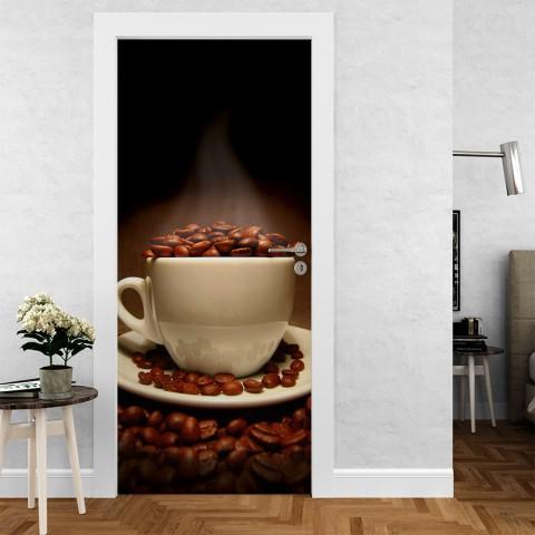 Vinilo para Puerta -  Cafe