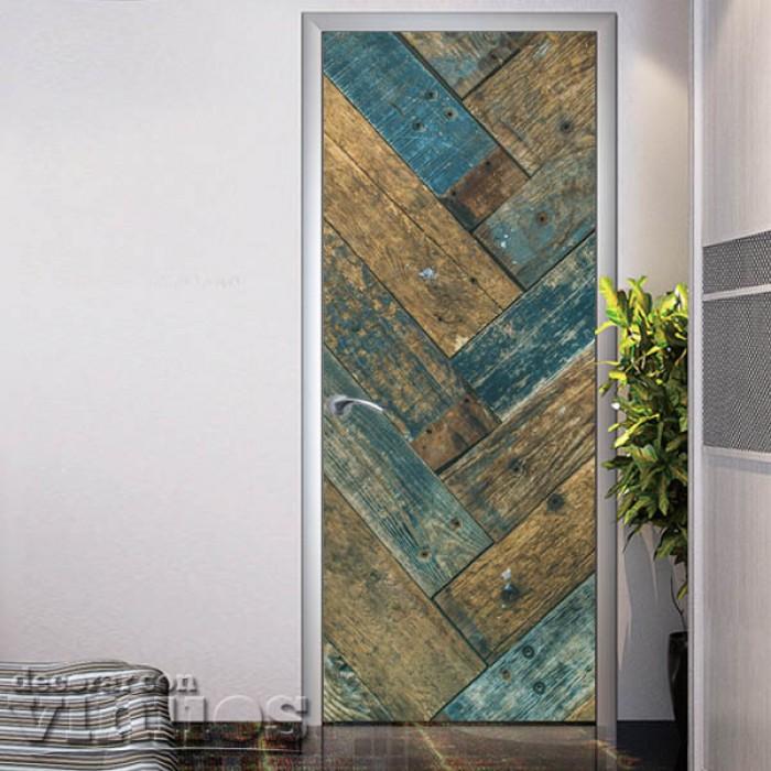 Puerta madera vintage