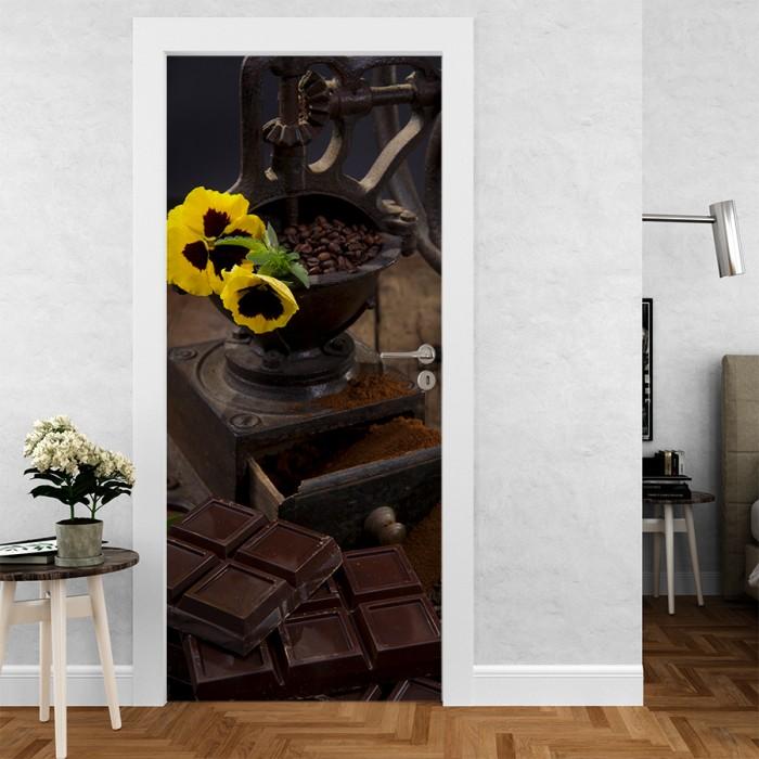 Vinilo para Puerta - Café y chocolate