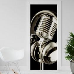 Vinilo para Puerta - Microfono