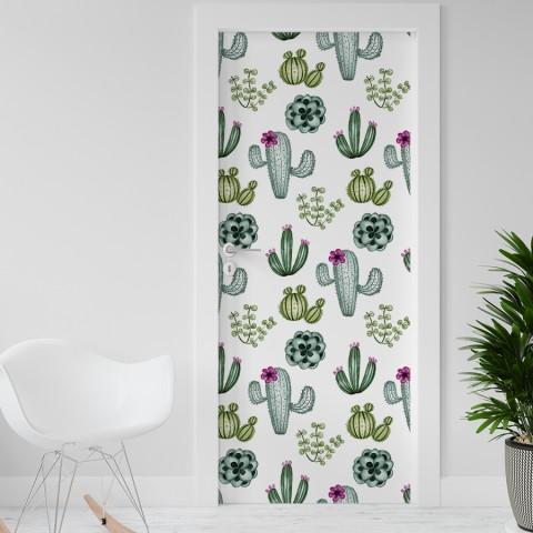 Vinilo para Puerta - Cactus