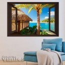Ventana 3D - Playa Tropical