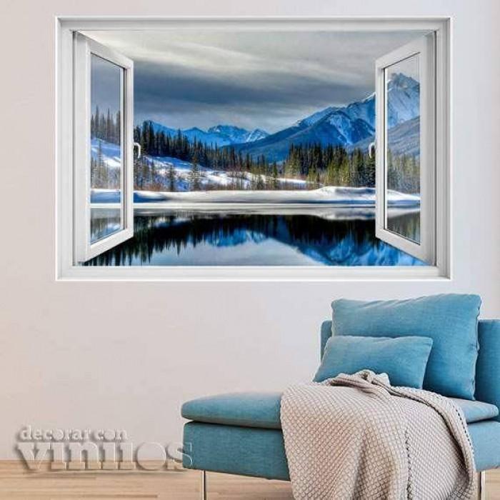 Ventana 3D -  Lago Invernal