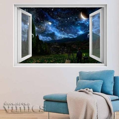 Ventana 3D - Noche estrellada