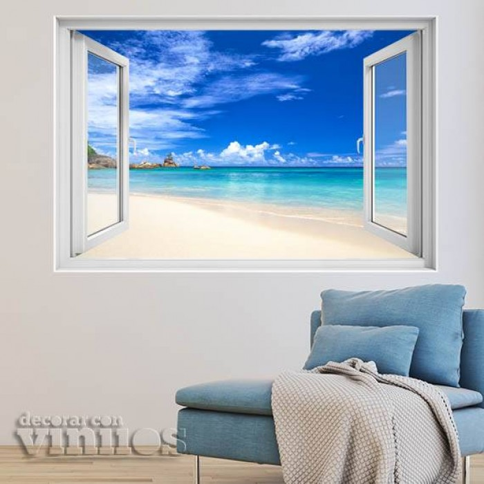 Ventana 3D - Playa