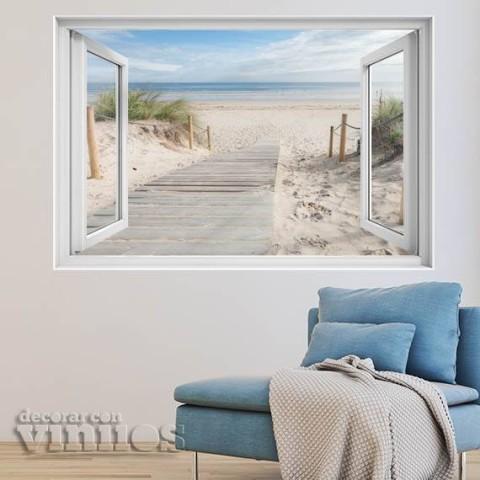 Ventana 3D - Pasarela a la playa