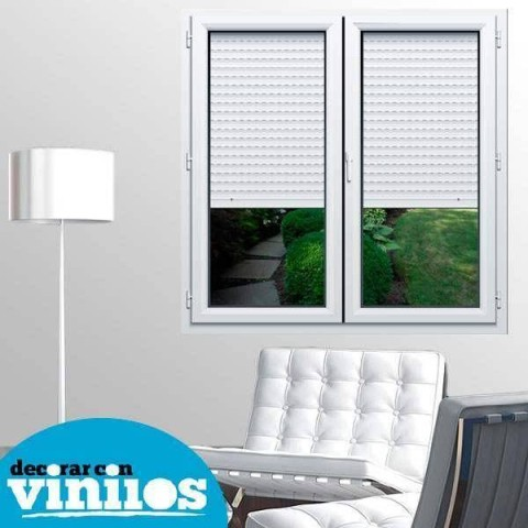 Ventana 3D -  Persiana y patio