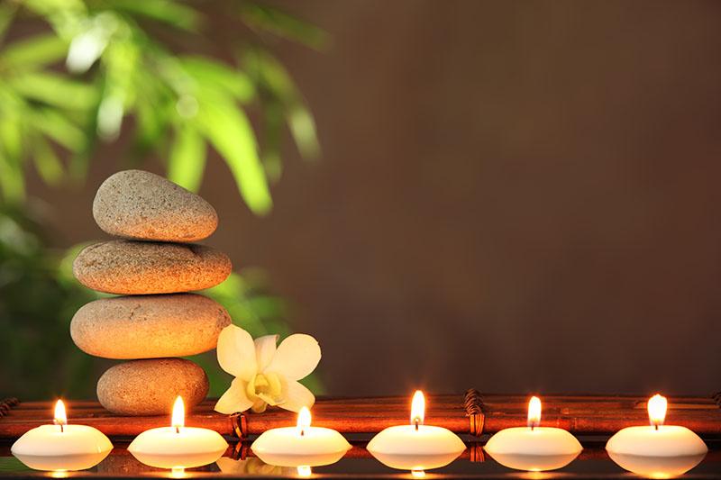 Fotomural - Zen con velas