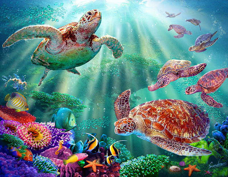 Fotomural -  Tortugas marinas