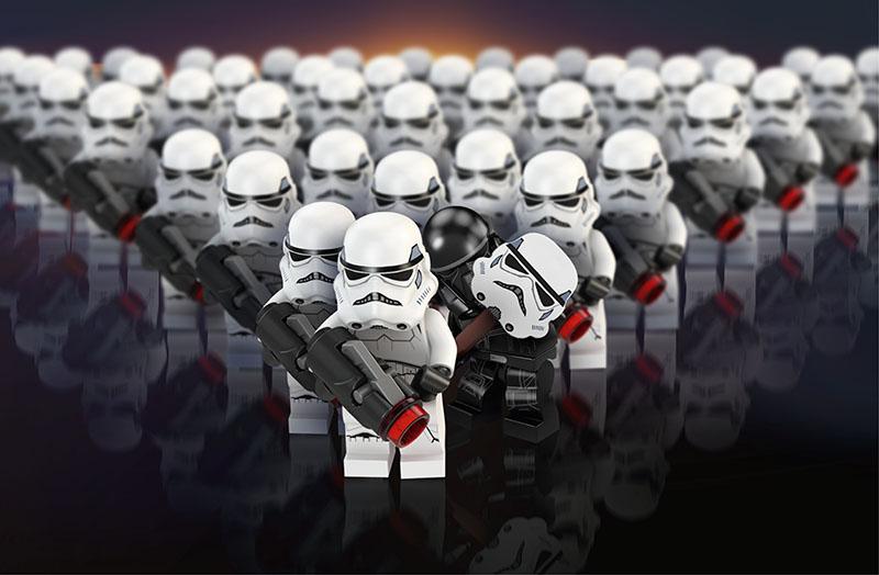 Fotomural - Star Wars Guardia Lego