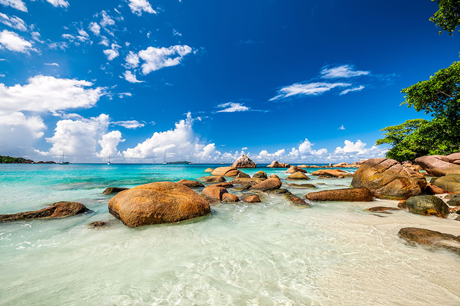 Fotomural - Rocas en la playa 2