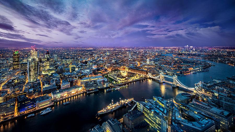 Fotomural - Londres aereo