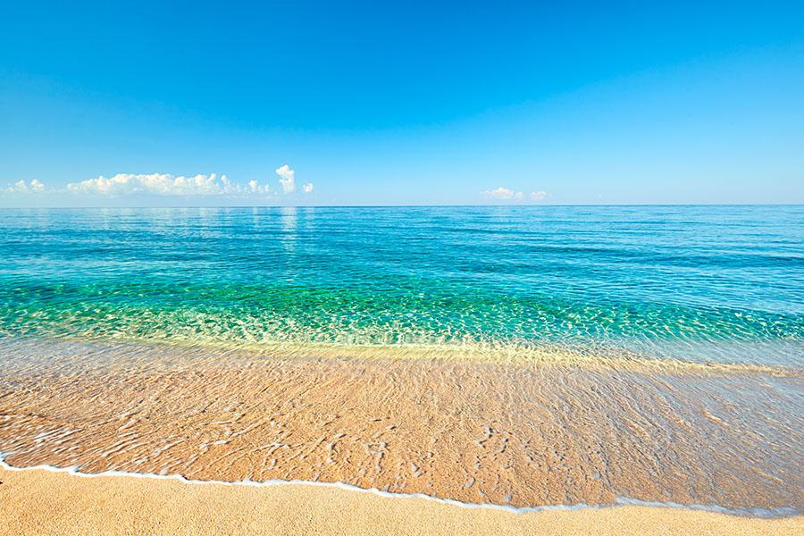 Fotomural - Playa con vistas al mar