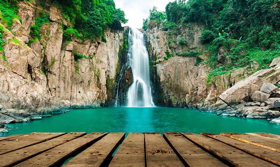 Fotomural - Cascada Haew Narok de Tailandia