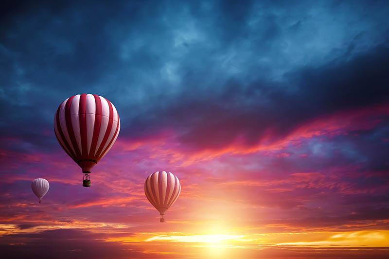 Fotomural - Globos aerostáticos al amanecer