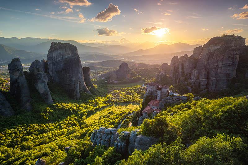Fotomural - Atardecer en los monasterios de Meteora