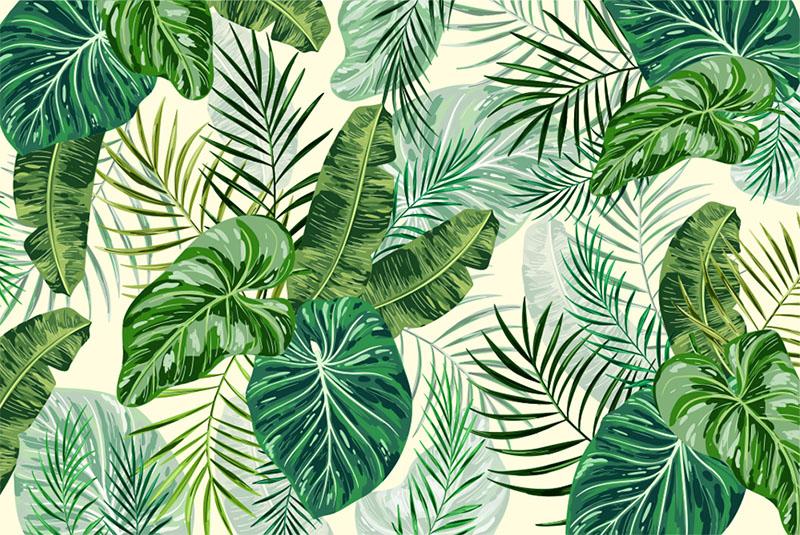 Estor personalizado Hojas Tropicales