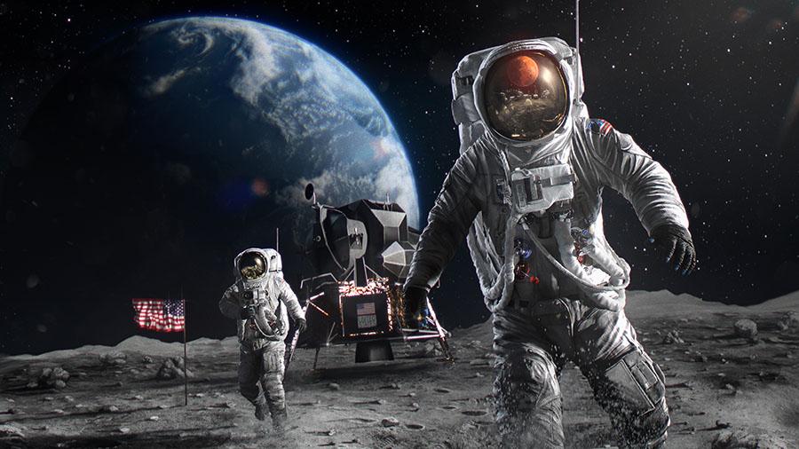 Fotomural - Astronauta en la luna