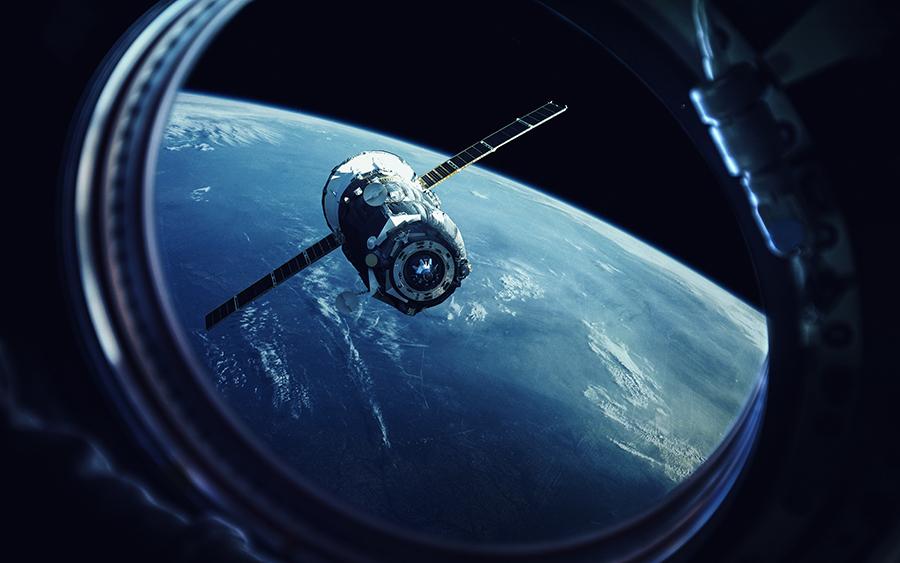 Fotomural - Vista desde nave espacial a la tierra