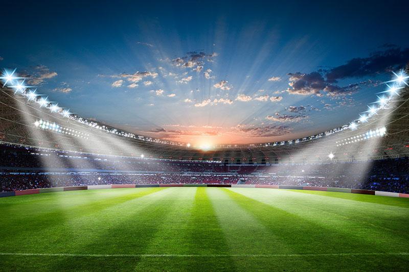 Fotomural - Atardecer en el Estadio de futbol