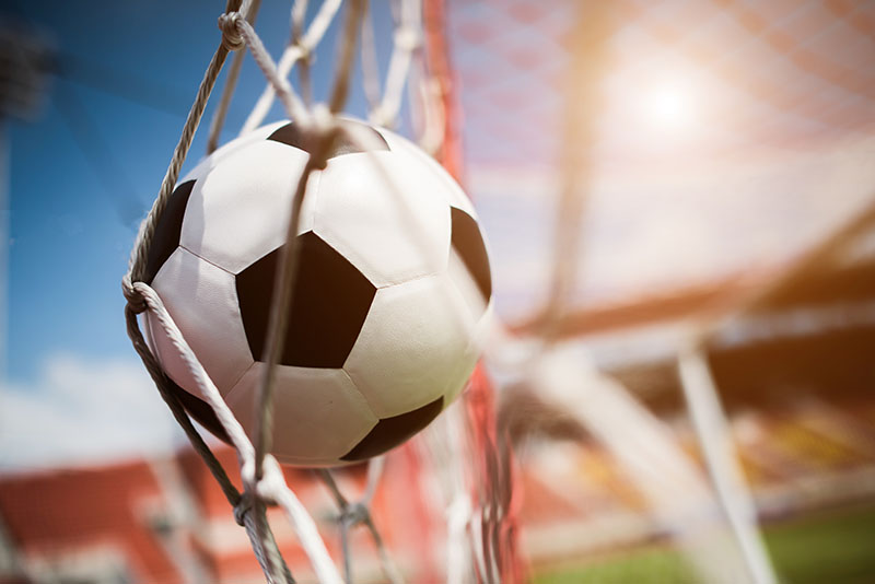 Fotomural - Balón de futbol en la red