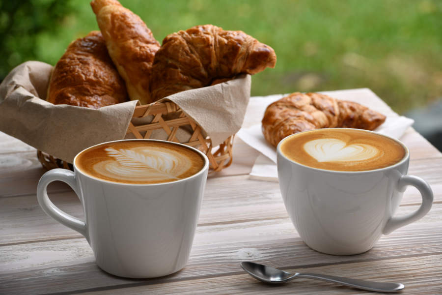 Fotomural - Cafe con Cruasán / Croissant